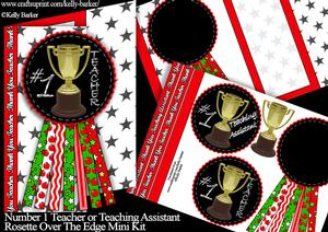 Number 1 Teacher or Teaching Assistant Thank You Rosette