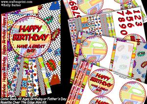 Comic Book Birthday Father's Day Rosette Over the Edge Kit