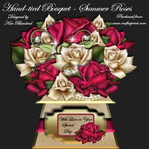 Hand-tied Bouquet - Summer Roses - Mini Kit