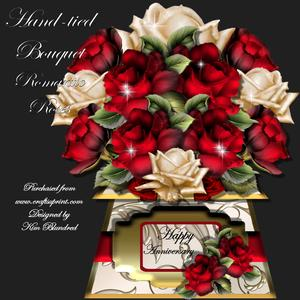 Hand-tied Bouquet - Romantic Roses - Mini Kit