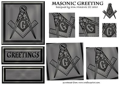 Masonic Greeting Twist Topper