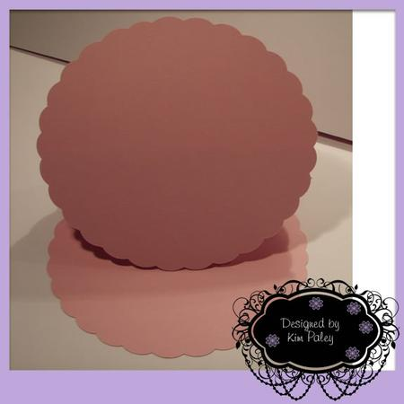 Scalloped Circle Easel Card - Silhouette Studio
