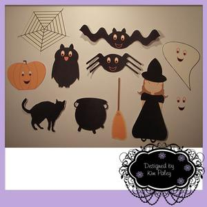 Halloween Cute Witch and Friends - SVG