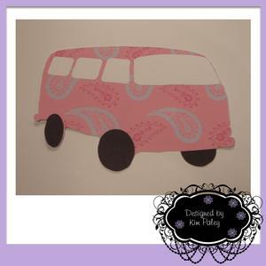 Camper Van Pink Paisley Cutting File - SVG