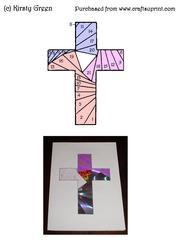 Iris Folding Cross Pattern Easter