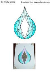 Iris Folding Water Droplet Pattern