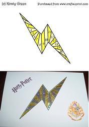 Iris Folding Lightning Bolt Pattern