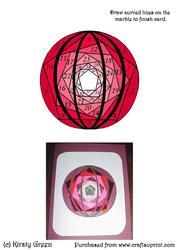 Iris Folding Marble Circle Pattern