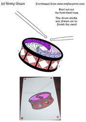Iris Folding Drum Pattern