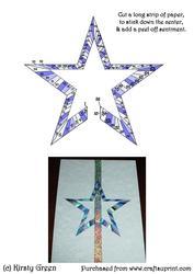 Iris Folding Floating Star 1 Pattern