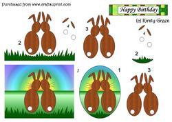 Bunnies Decoupage
