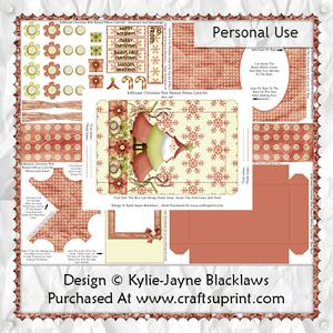 Sweet Christmas - Pink - 3D Parasol Pillow Card Kit