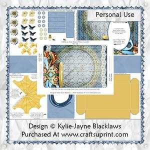 Tea in Time - 3D Parasol Pillow Card Kit
