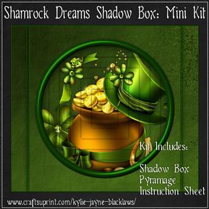 Shamrock Dreams Shadow Box Mini Kit