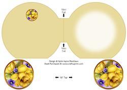 Yellow Roses Pyramage Matching Insert