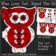 Whoo Loves You Shaped Card Mini Kit