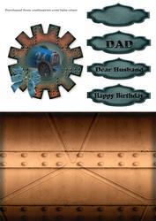 Steampunk Cardfront