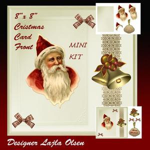 "Chrismas Santa 8""x 8"" Cardfront"