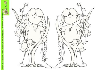 Lily of the Valley Doodles Digi Stamp