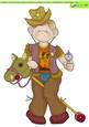 Cowboy Doodles Dandy Large Image