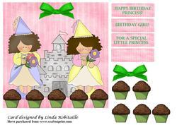 Princess Cupcake Party Topper