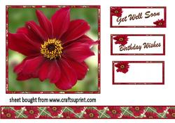 Red Flower Topper