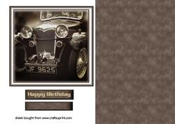 Vintage Car Birthday