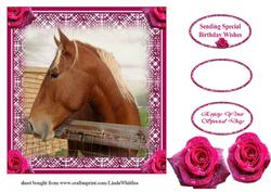 Horse with Roses Topper