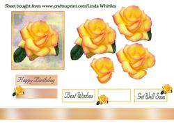 Yellow Rose Step-by-step