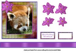 Red Panda Topper with Flower