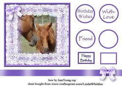 Horse & Foal in Lace Frame Topper