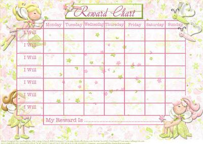 Monthly Reward Chart Template