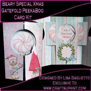 Beary Special Xmas Gatefold Peekaboo Card Kit
