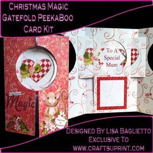 Christmas Magic - Gatefold Peekaboo Card Kit