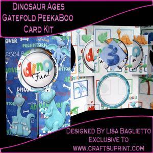 Dinosaur Ages - Gatefold Peekaboo Card Kit
