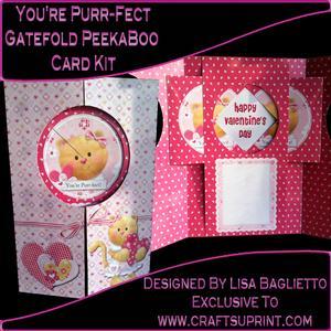 You're Purr-fect - Gatefold Peekaboo Card Kit