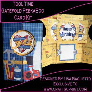 Tool Time - Gatefold Peekaboo Card Kit