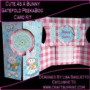 Cute as a Bunny Gatefold Peekaboo Card Kit