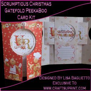 Scrumptious Christmas - Gatefold Peekaboo Card Kit