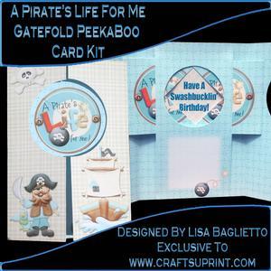 A Pirate's Life for Me - Gatefold Peekaboo Card Kit