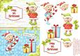 Christmas Cuties - Elf Twins 1st Christmas Card