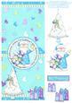 Be Merry - Cute Santa Over the Edge Card