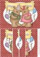 Happy New Year Bear Couple A5 Side Stacker Card