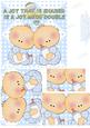 A Joy That is Shared - New Baby Boy Twins Card
