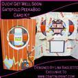 Ouch! Get Well Soon Gatefold Peekaboo Card Kit