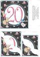 Sparkles and Celebrations - 20th Birthday Corner Stacker