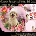 Golden Retriever Puppy - 8x8 Scalloped Corner Topper