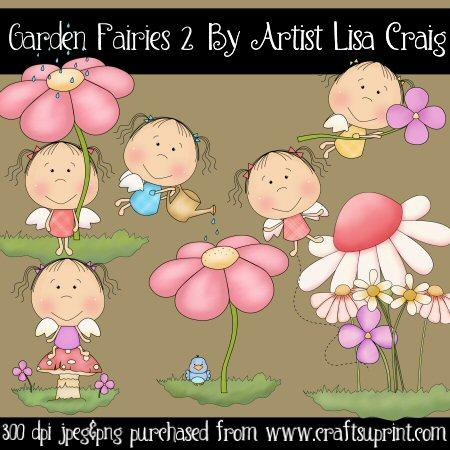 Garden Fairies 2 Clip Art