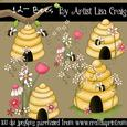 12- Bees Clipart