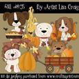 Fall Dogs Clip Art